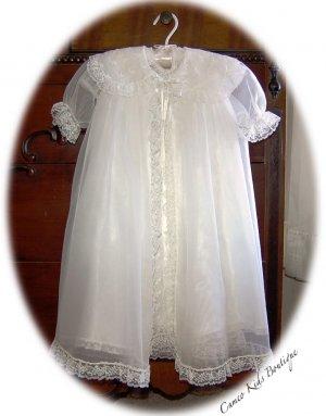 1950's Vintage Baby Christening Dress - Slip - Coat - Bonnet