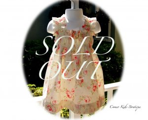 Tea Time - Rose Floral Dress - Sun Dress � Halter Dress � Little Girls � Toddlers