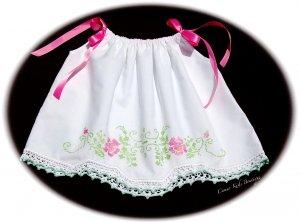 Franciska - Pillowcase Dress - Hand Cross Stitched - Vintage - Easter Dress