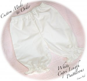 Custom Order for Peggy Only - White Pantaloons Size 6M.