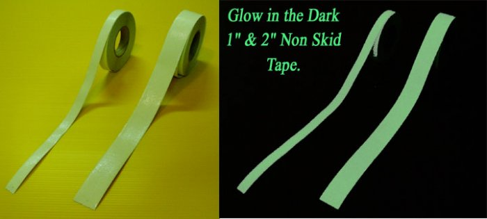 "2"" x 60' Glow in the Dark Non Skid / Non Slip Grip Tape"