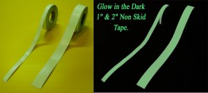"1"" x  60' Glow Non Skid / Non Slip Traction Tape"