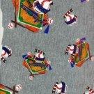 AMERICAN BASELBALL on GRAY COTTON KNIT