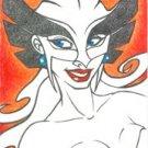 Personal Sketch Card - DC HAWKGIRL ACEO Original Art