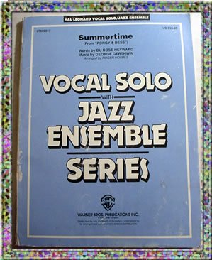 Summertime Vocal Solo With Jazz Ensemble Sheet Music