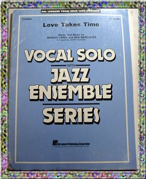 Love Takes Time Vocal Solo With Jazz Ensemble Sheet Music