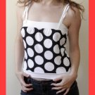 PAPAYA Great Polka Dot Babydoll Top - Small-Medium