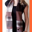 PAPAYA Patchwork Scarf with Vintage Buttons