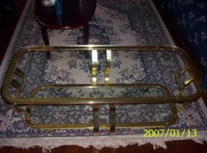 GLASS & BRASS COFFE TABLE