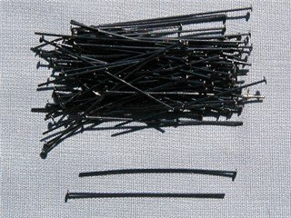 Gunmetal (Black) Headpins