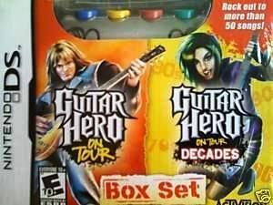 Nintendo DS Guitar Hero on Tour & on Tour Decades Box Set FREE SHIPPING HTF