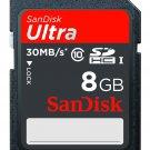 SanDisk Ultra Elevate 8GB SDHC Memory Card - Black (SDSDH-008G-T11)
