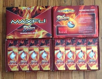 4 Boxes MAXFLI FIRE Golf Balls Blazing Speed 4 Dz 48 Total Taylor Made Mfg