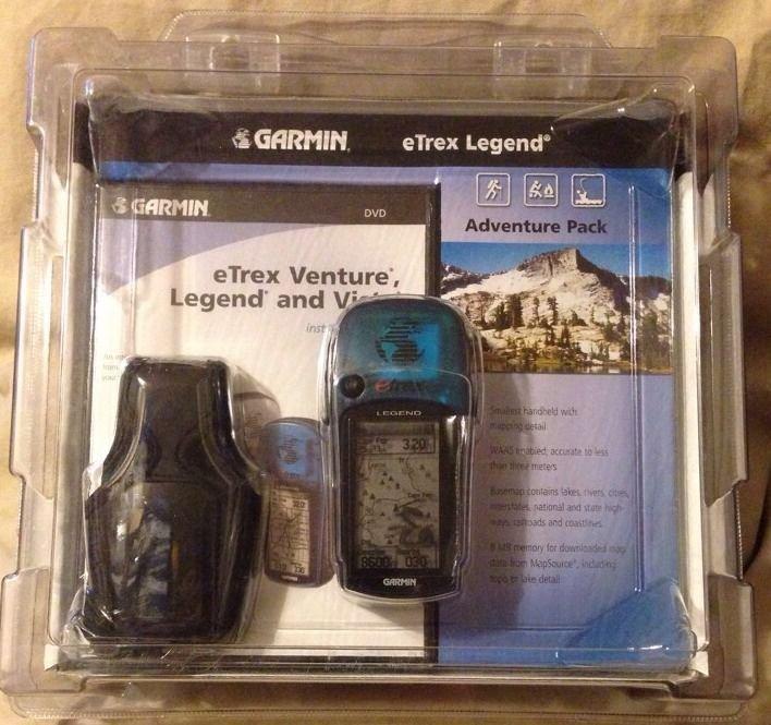 GARMIN eTrex Legend Handheld GPS Adventure Pack DVD NEW SEALED FREE SHIPPING