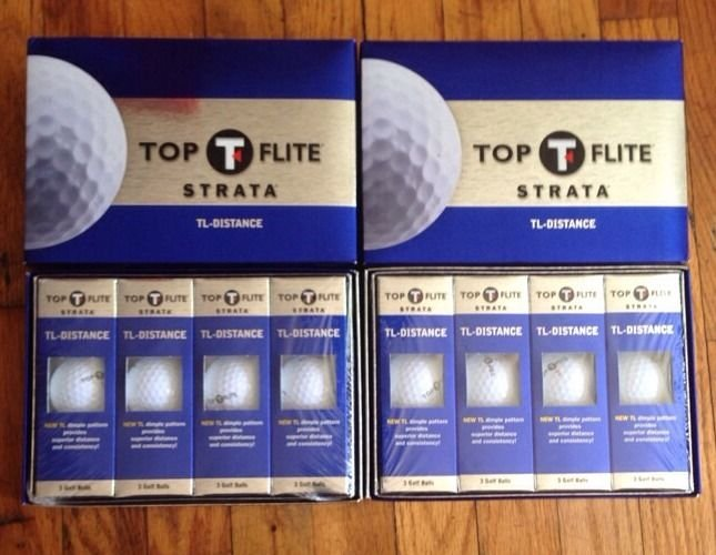 4 Boxes Sealed Pack of 12 Top Flite Strata TL-Distance golf balls new 48 Total