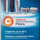 "HONEYWELL Air Purifier HEPA Filters HRF-C2 2-pack ""C"" HEPAClean NEW Vicks Holmes"