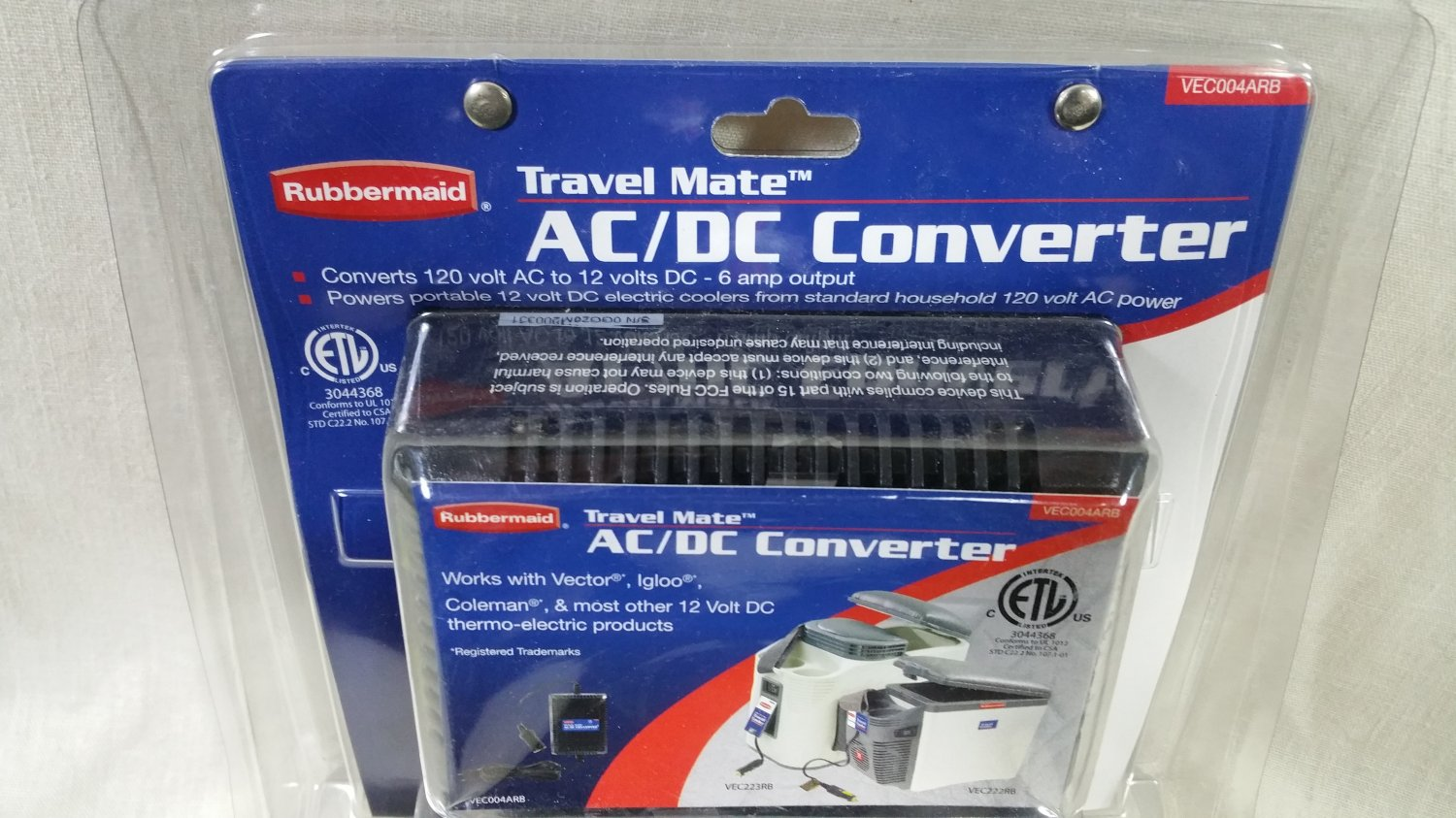 Rubbermaid Ac Dc 120 V 12 6 Amp Cooler Power Converter Igloo Vector Coleman Camping Free Shipping