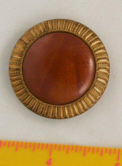 Metal VINTAGE BUTTON Aluminum Celluloid Vintage Button 1-1/2 Inch
