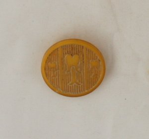 """Arts & Crafts"" Celluloid U Shank Trees VINTAGE BUTTON 1-1.8 Inch"