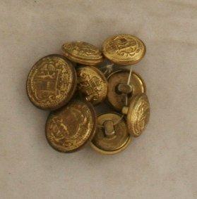 8 Salzburg  2 pc Steel VINTAGE Buttons-5/8,3/4 Inch