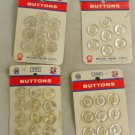 4 Cards-Mitchell Wayne-VINTAGE BUTTON White 5/8 In