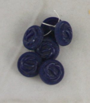 6 Blue Knot Styrene Shank VINTAGE BUTTONS-11/16 Inch