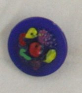 Hand Painted Fruit Bowl Plastic-VINTAGE BUTTON-3/4 Inch