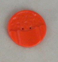 Orange Formed Celluloid VINTAGE BUTTON-7/8 Inch