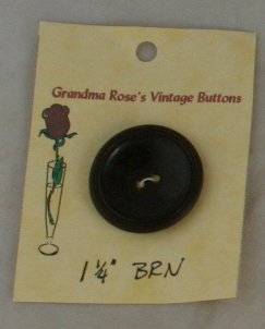 Large Brown Early Plastic  VINTAGE BUTTON 1-3/8 Inch