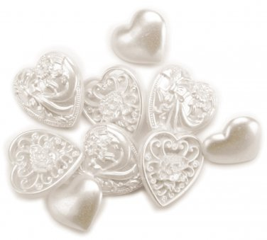 Blumenthal Lansing Favorite Findings Buttons, Victorian Hearts, 10/Pkg