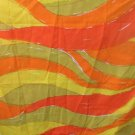 Burlington Vera Originals Twin XLong Flat Sheet 1973 Orange,Yellow,Green