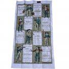 Kay Dee Handprints Steamship Linen Towel- 17 x 30