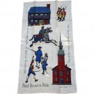Robert Hughes Paul Revere's Ride Towel Linen Commemorative Towel