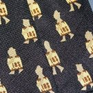 Alynn Novelty IRS Tie Necktie Silk Tie Navy Blue Vintage Internal Revenue Service C21 ~