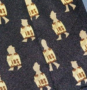 Alynn Novelty IRS Tie Necktie Silk Tie Navy Blue Vintage Internal Revenue Service C21 ~