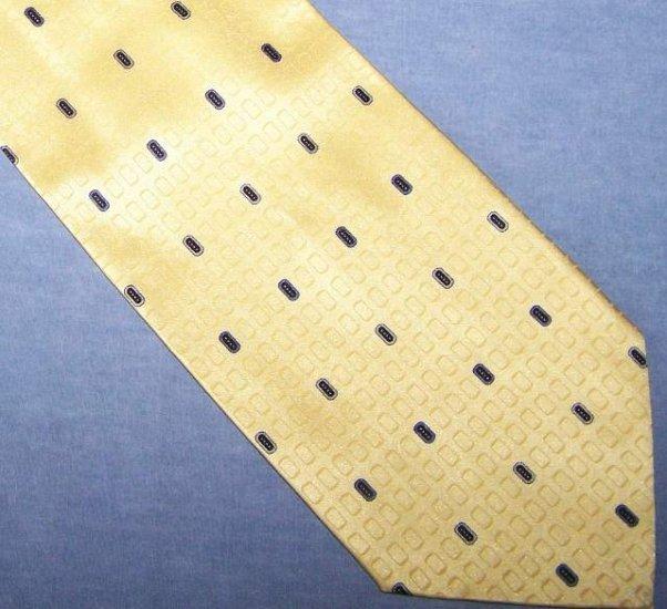 Duomo Milano Yellow Silk Tie Necktie C32 ~
