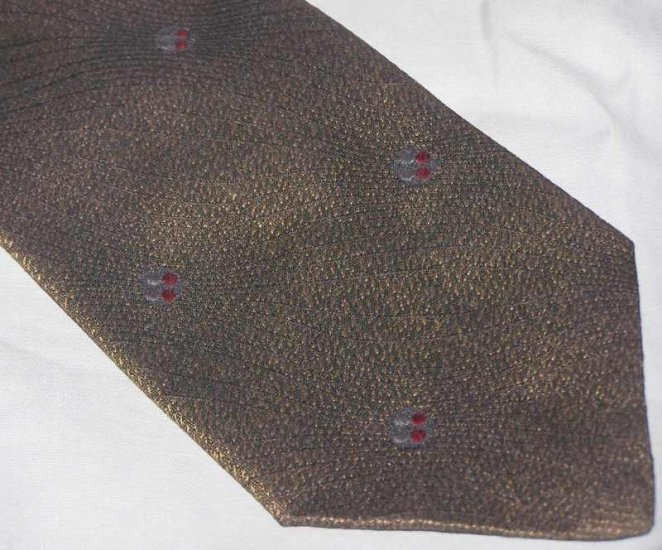 Armani Brown Silk Tie Necktie ~ C71 ~