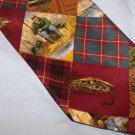 AKA Eddie Bauer Silk Fishing FliesTie Necktie C126 ~