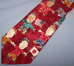 Dino Romaro Novelty Children of the World Tie Necktie C119 ~