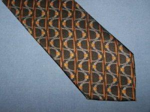 Ermenegildo Zegna Black Design Tie Necktie K3 ~