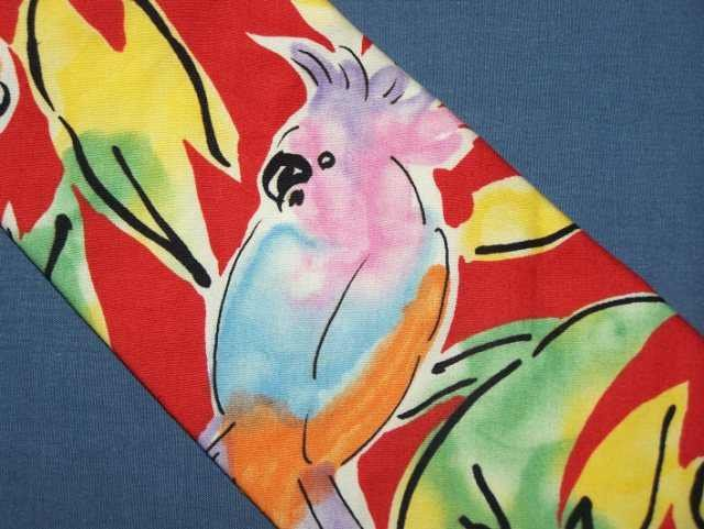 Carriage Cravats Watercolor Parrot Cotton Tie Necktie C23 ~