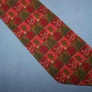 Christian Dior Red Green Silk Tie Necktie Ship Crown C24 ~