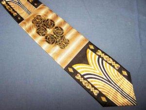 Charles Gabriele Black Gold Bold Power Poly Tie Necktie C12 ~
