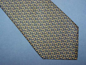 Bijoux Terner Navy Blue Letter Silk Tie Necktie C10 ~