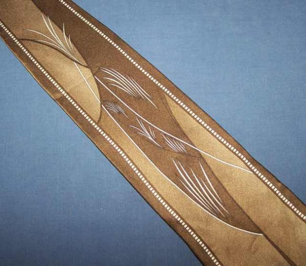Vittorio Farina Brown Bold Power Tie Necktie C9 ~
