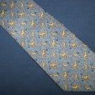 Lorvel Lorlar Light Blue Horse Silk Tie Necktie C8 ~