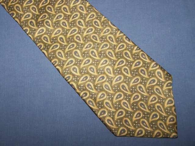 Oscar de la Renta Paisley Silk Tie Necktie C27 ~