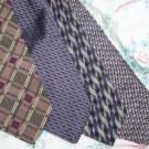 Lot of 4 Purple Themed Ties Neckties W123