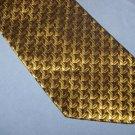 Henry Grethel Tie Necktie Gold Black Taupe  T58
