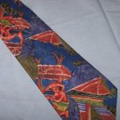 Silk Polynesian Scene Tie Necktie